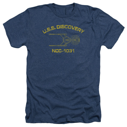 Image for Star Trek Discovery Heather T-Shirt - Discovery Athletic
