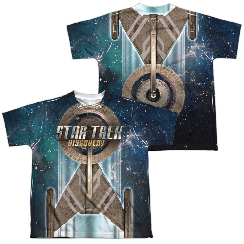 Image for Star Trek Discovery Youth Sublimated T-Shirt - USS Discovery