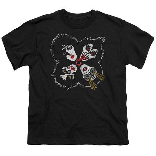 Image for Kiss Youth T-Shirt - Rock and Roll Heads