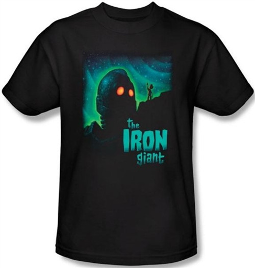Image Closeup for The Iron Giant Look to the Stars T-Shirt