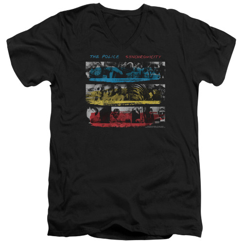 Image for The Police V Neck T-Shirt - Syncronicity