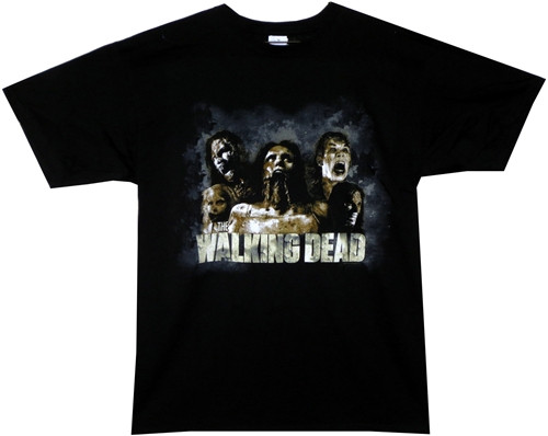 Image Closeup for The Walking Dead T-Shirt - Zombies Cracked