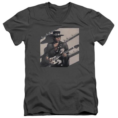 Image for Stevie Ray Vaughan V Neck T-Shirt - Texas Flood