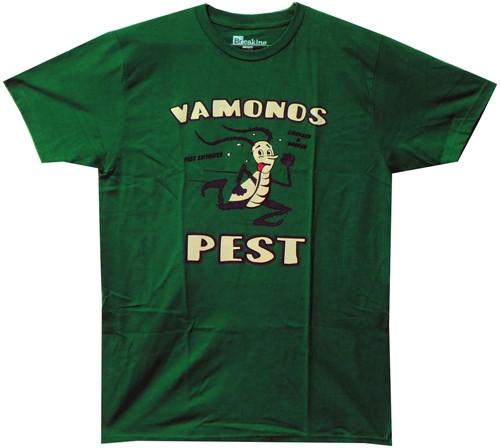 Image Closeup for Breaking Bad T-Shirt - Vamonos Pest Logo