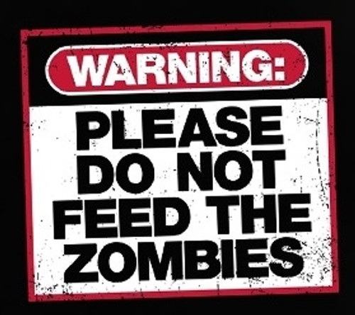 Image for Zombie T-Shirt - Warning: Do Not Feed the Zombies
