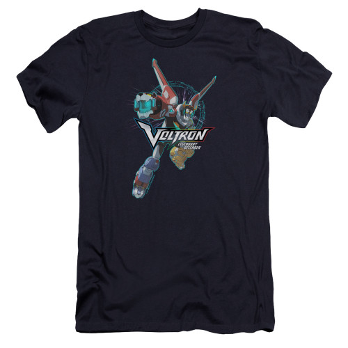 Image for Voltron: Legendary Defender Premium Canvas Premium Shirt - Defender Pose