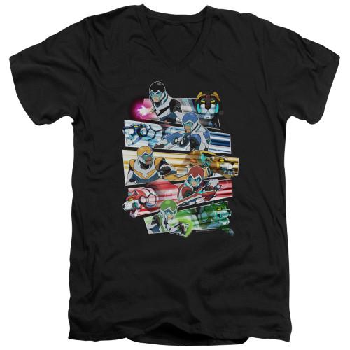 Image for Voltron: Legendary Defender V Neck T-Shirt - Paladins Strike