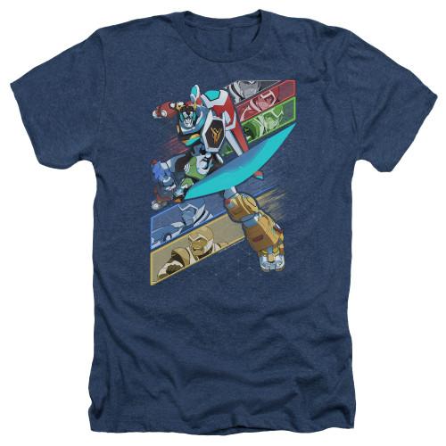 Image for Voltron: Legendary Defender Heather T-Shirt - Crisscross