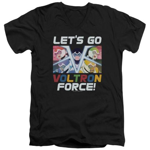 Image for Voltron: Legendary Defender V Neck T-Shirt - Let's Go