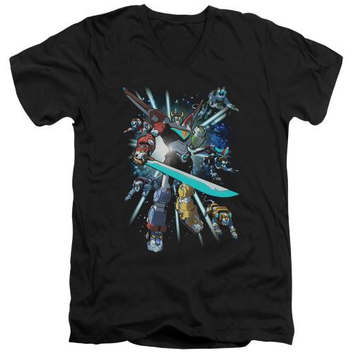 Image for Voltron: Legendary Defender V Neck T-Shirt - Lions Share