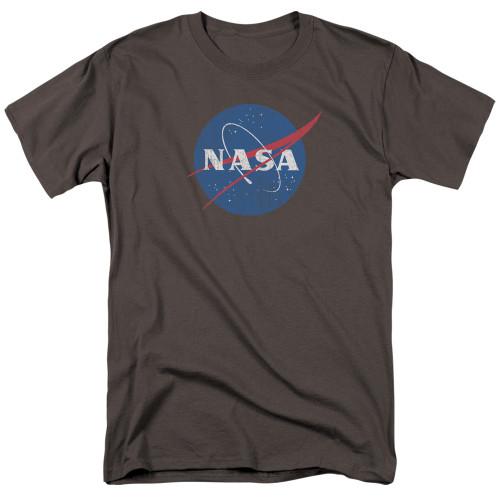 Image for NASA T-Shirt - Meatball Logo Distressed