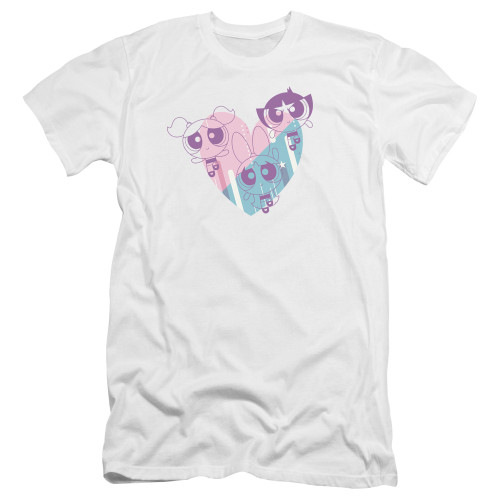 Image for The Powerpuff Girls Premium Canvas Premium Shirt - Heart