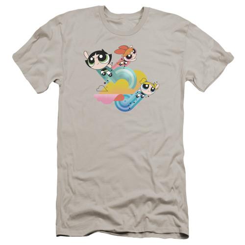 Image for The Powerpuff Girls Premium Canvas Premium Shirt - Spiral Streaks