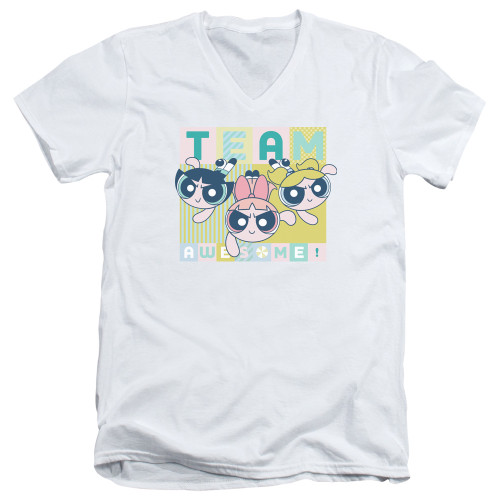 Image for The Powerpuff Girls V Neck T-Shirt - Awesome Block
