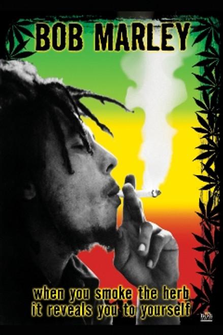 Image for Bob Marley Poster - Smoke the Herb