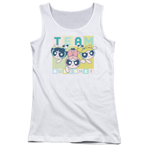 Image for The Powerpuff Girls Girls Tank Top - Awesome Block