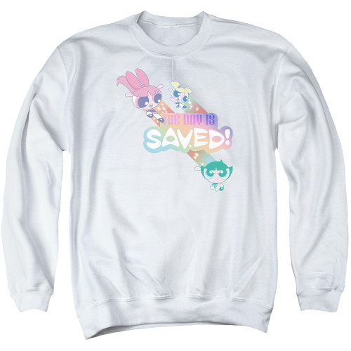 Image for The Powerpuff Girls Crewneck - The Day is Saved Again