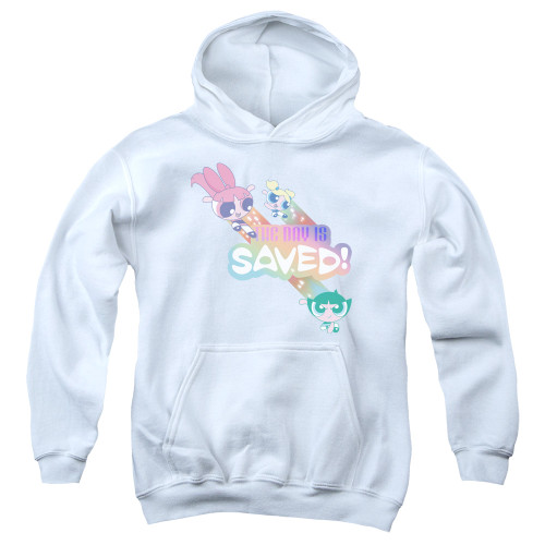 Image for The Powerpuff Girls Youth Hoodie - The Day is Saved Again