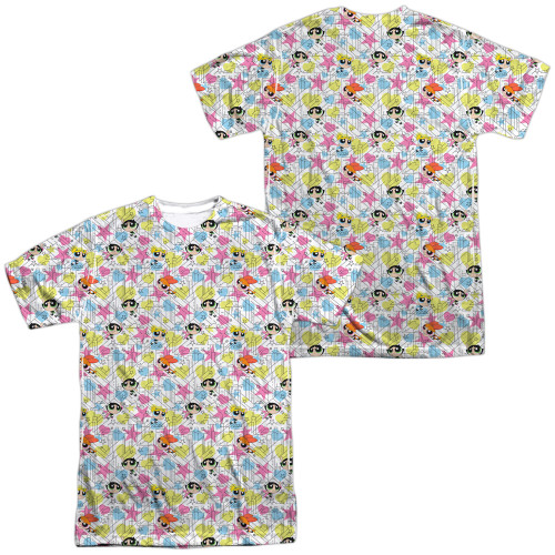 Image for The Powerpuff Girls Sublimated T-Shirt - Geo Pattern 100% Polyester