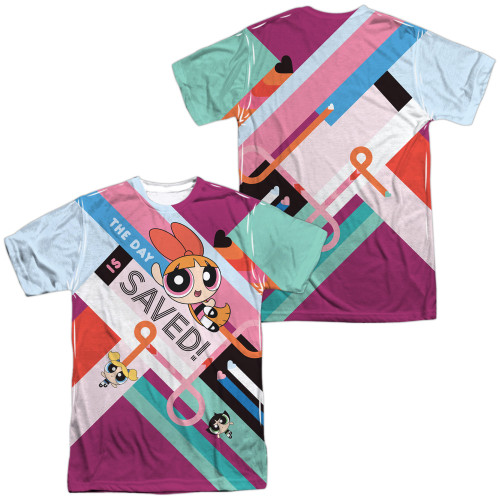 Image for The Powerpuff Girls Sublimated T-Shirt - The Day is Saved 100% Polyester