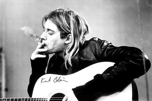 Image for Kurt Cobain Poster - Smoking