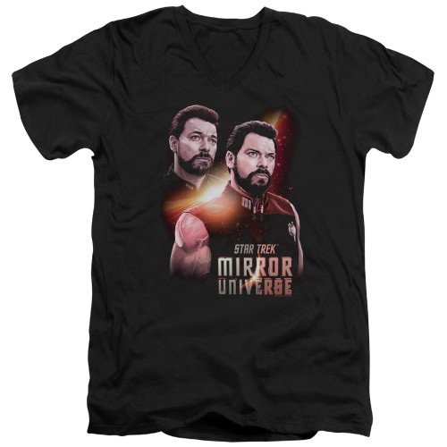 Image for Star Trek the Next Generation Mirror Universe V Neck T-Shirt - Mirror Riker