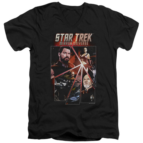Image for Star Trek the Next Generation Mirror Universe V Neck T-Shirt - Panels