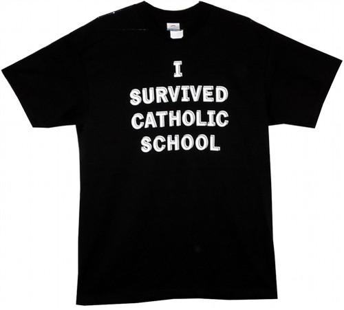 Image Closeup for I Survived Catholic School T-Shirt