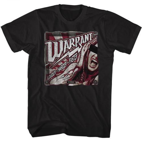Image for Warrant T-Shirt - Louder Harder Faster