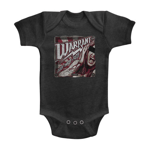 Image for Warrant Louder Harder Faster Infant Baby Creeper