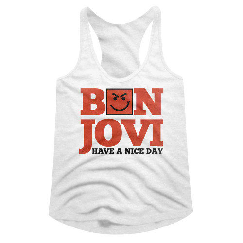 Image for Bon Jovi Have a Nice Day Juniors Racerback Tank Top