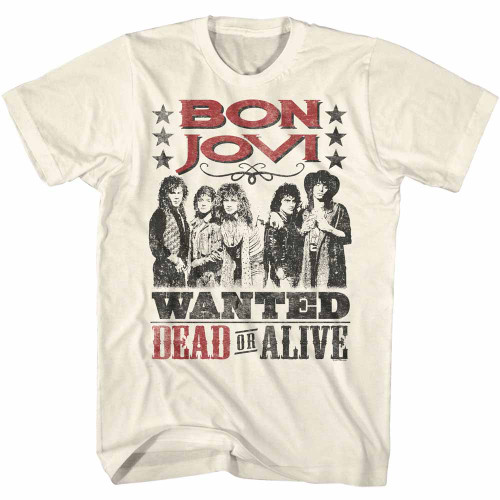 Image for Bon Jovi T-Shirt - Wanted Dead or Alive
