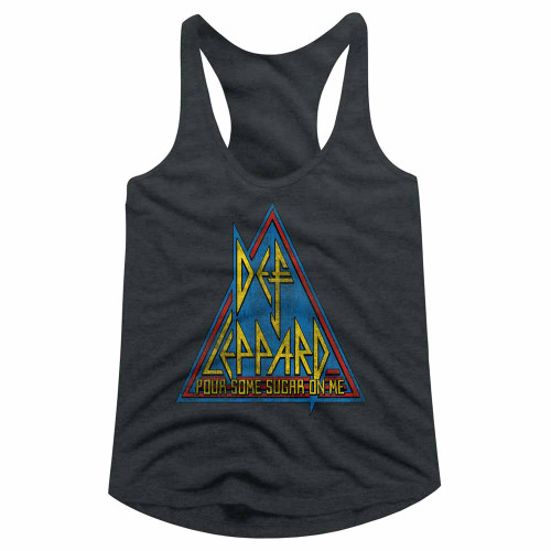 Image for Def Leppard Primary Triangle Juniors Racerback Tank Top