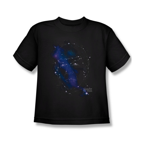 Image for Star Trek Youth T-Shirt - Spock Constellations