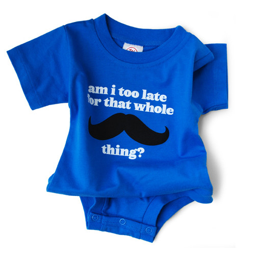 Image for Am I Too Late Mustache Baby Creeper