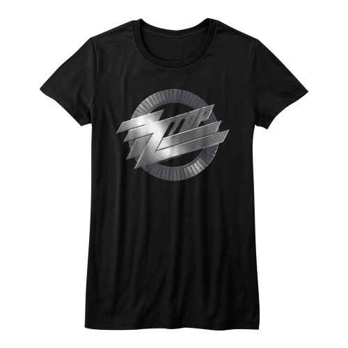 Image for ZZ Top Girls T-Shirt - Metal Logo