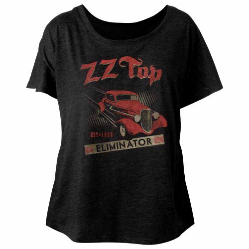 Image for ZZ Top Est. 1969 Juniors Dolman Top