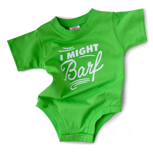 Image for I Might Barf Baby Creeper