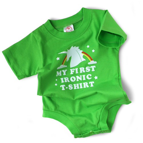 Image for My First Ironic T-Shirt Baby Creeper