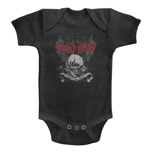 Image for Skid Row Skull & Wings Infant Baby Creeper
