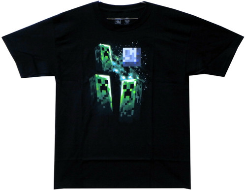 Image for Minecraft Youth T-Shirt - Three Creeper Moon