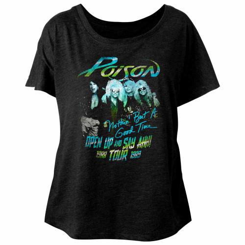 Image for Poison Tour Shirt Juniors Dolman Top