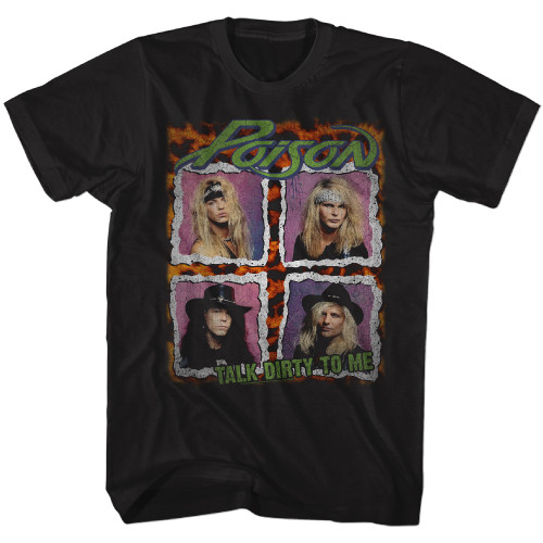 Image for Poison T-Shirt - Talk Dirty Squares