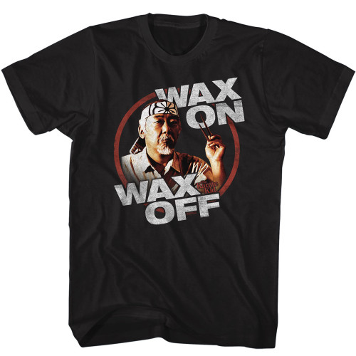 Image for Karate Kid T-Shirt - Wax On/Off Chopstick