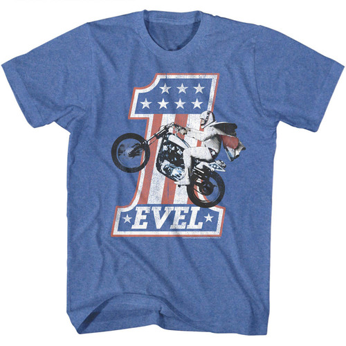Image for Evel Knievel T-Shirt - One Evel 2