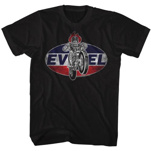 Image for Evel Knievel T-Shirt - Amazing Logo