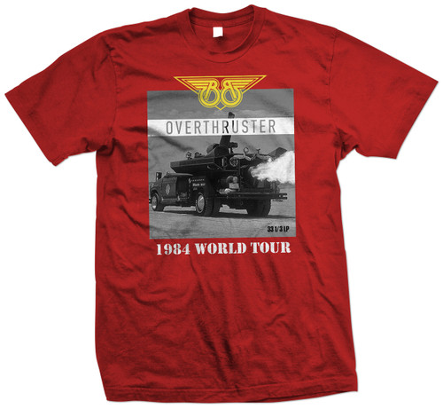 Front image for Buckaroo Banzai and the Hong Kong Cavaliers Overthruster Tour T-Shirt
