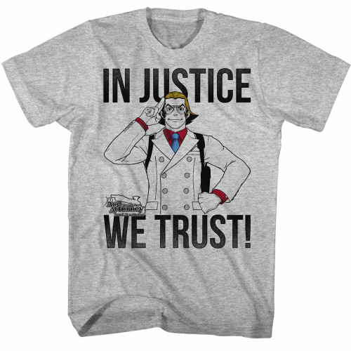 Image for Ace Attorney T-Shirt - In Justice We Trust