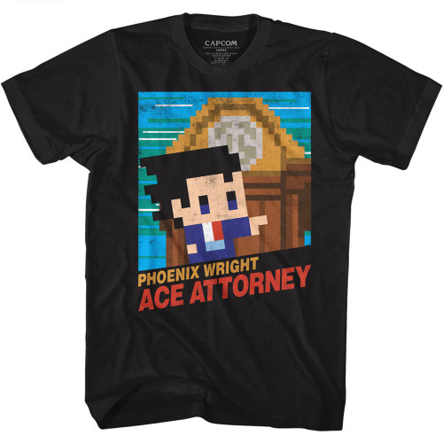 Image for Ace Attorney T-Shirt - 8 Bit Cover