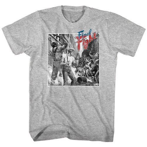 Image for Final Fight T-Shirt - B&W Fight